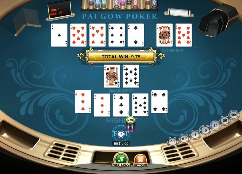 Understanding online Pai Gow Poker Pai Gow