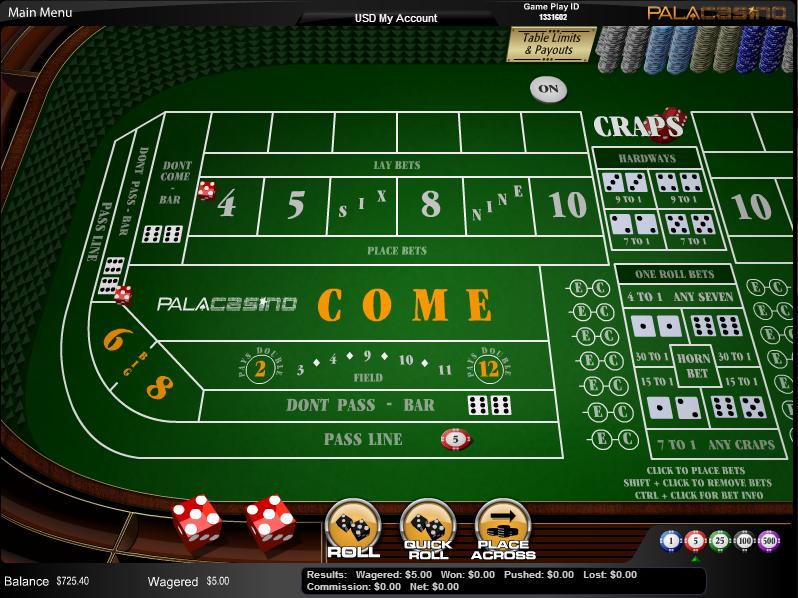 Understanding Online Craps Place Bets